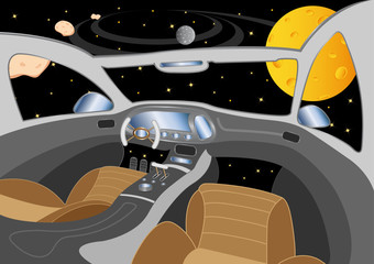 spaceship interior in the universe