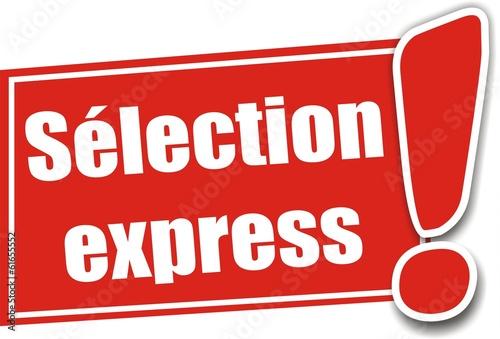 étiquette sélection express