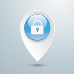 Location Marker DLock Blue Button