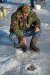 Man on winter fishing 35