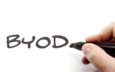 BYOD being written by hand