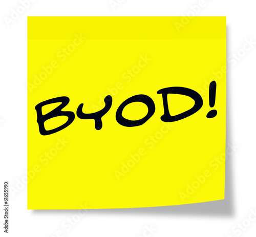 BYOD on a sticky note