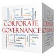 Corporate Governance 3D cube Word Cloud Concept