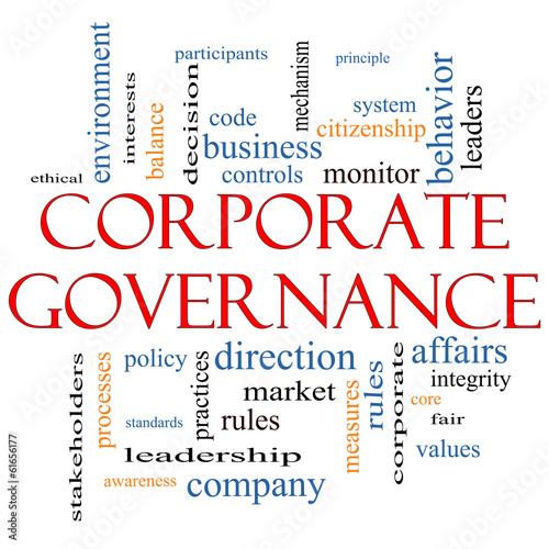Corporate Governance Word Cloud Concept