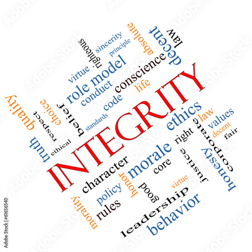 Integrity Word Cloud Concept Angled