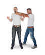 Man choking other man