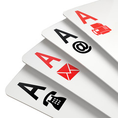 Poker of contacts symbols