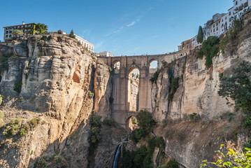 A beautiful Landscape of Ronda, Little Town in Andalusia, Spain