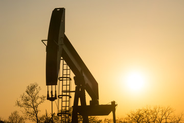 Texas Oil Well Against Setting Sun III
