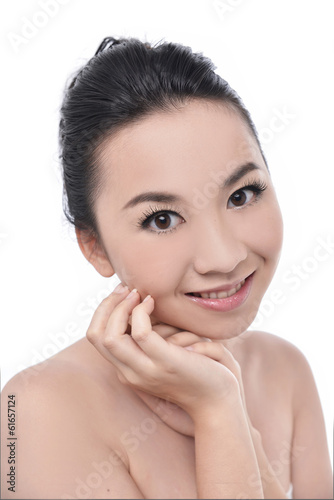 beautiful cheerful teen girl beauty face happy smiling