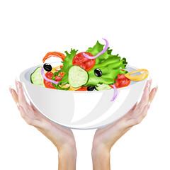 Fresh Appetizers Salad of tasty vegetables.Vegetarian Food