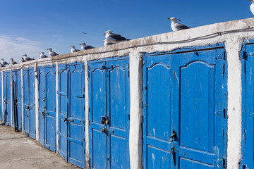 Lockers in the harbor of Essaouira, Morocco