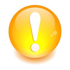 bouton internet attention exclamation danger orange