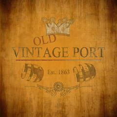 Stilisiertes altes Portwein-Etikett