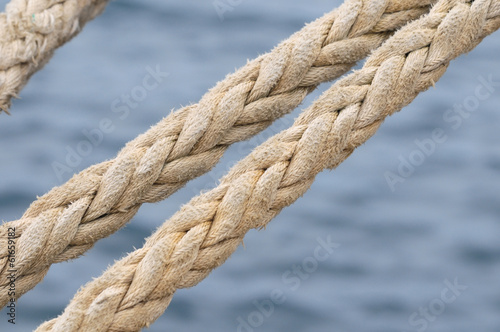 Naval Rope on a Pier