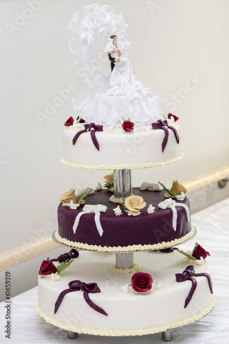 canvas print picture Decorated Wedding cake