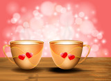 Love with hot coffee valentine's day