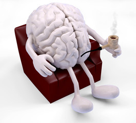 brain relaxing on armchair