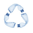 Concept of recycle.Empty used plastic bottle on white background