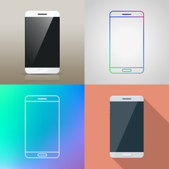 Set of Vector Smartphone