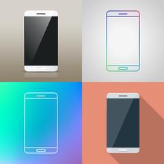Set of Vector Smartphone