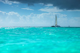catamaran boat in the  caribbean sea