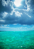 beautiful waters of the caribbean sea near saona island