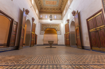 Reception room in Al Bahia Palace, Marrakesh