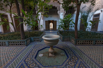 Patio in the Al Bahia Palace, Marrakesh, Morocco