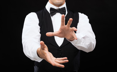casino dealer showing trick