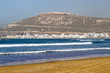 canvas print picture - Agadir Morocco beach