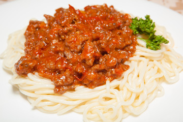 beef goulash with pasta