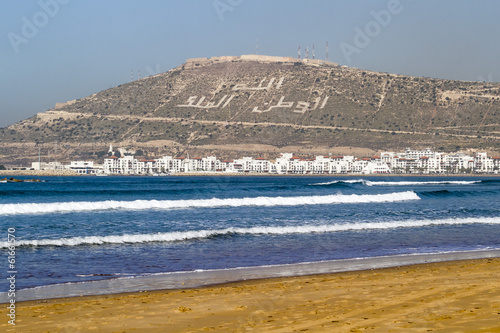 canvas print picture Agadir Morocco beach