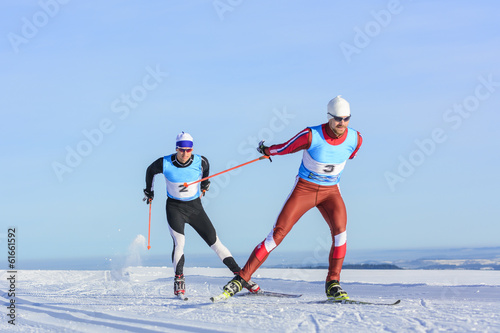 Leinwanddruck Bild Langlauf-Rennen