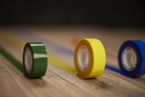 Different colors scotch tape