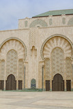Hassan II mosque side, Casablanca Morocco