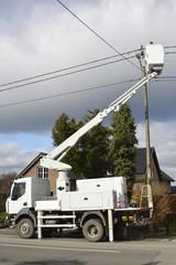 Hubwagen, Reparatur an Stromleitung
