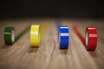 Different colors scotch tape