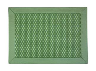 Green cloth place mat