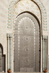 Moroccan decoration Hassan II mosque, Casablanca Morocco