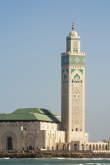 Mosque Minaret Hassan II mosque, Casablanca