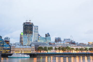 London City at Dawn