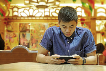 Young Man With Tablet Computer
