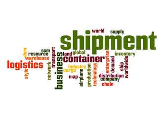 Shipment word cloud