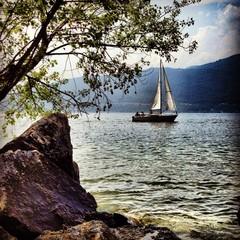 barca sul lago maggiore