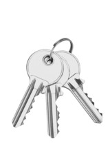 New shiny keys on a keyring