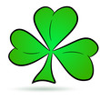 Shamrock icon isolated on white.