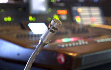 microphone on the control panel