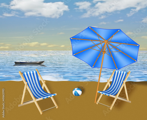 canvas print picture Ferien am Meer