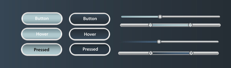 soft buttons sliders